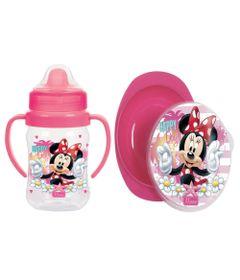 Kit-de-Copo-de-Treinamento---300Ml-e-Prato-Fundo---Disney---Minnie---BabyGo
