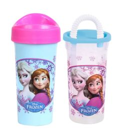 Kit-de-Copos---340Ml-e-440Ml---Disney---Frozen---BabyGo