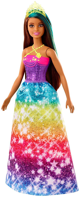 Barbie Dreamtopia - Boneca Princesa Morena - Vestido Estrelas Gjk14