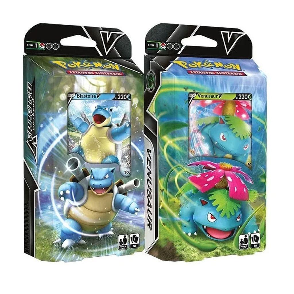 Pokémon - 2 Deck - Blastoise e Venusaur - Baralho Batalha V