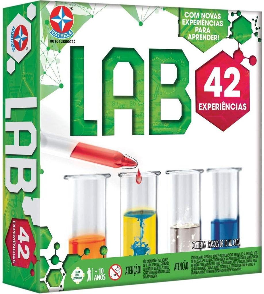 Jogo Lab - Laboratório 42 Experiências - Brinquedos Estrela