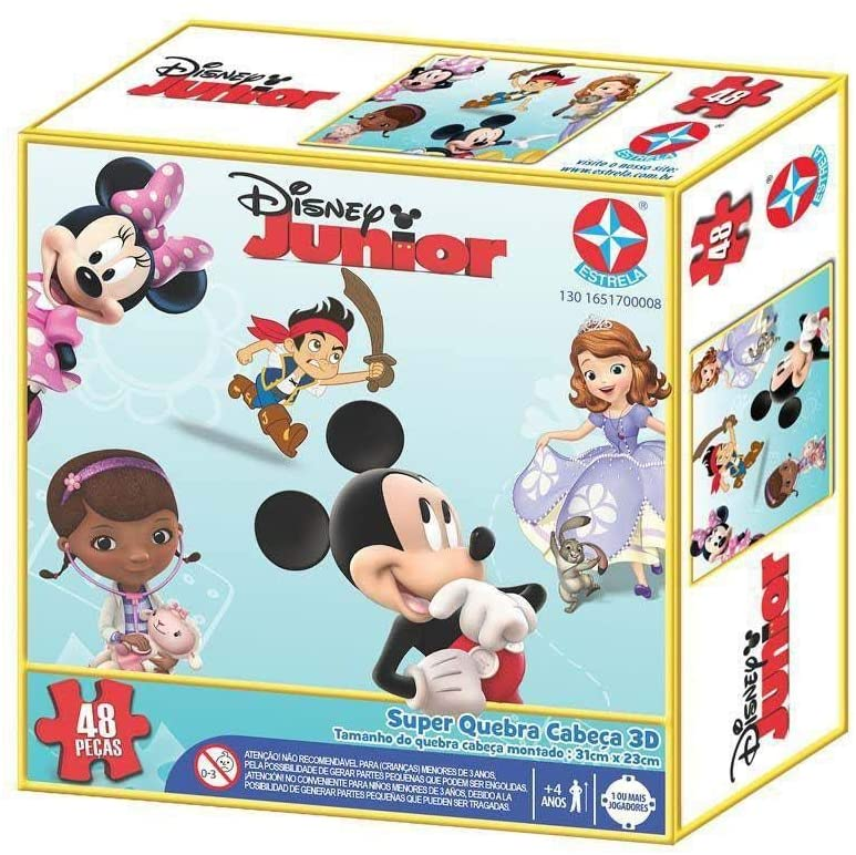 Quebra-Cabeça 3D Disney Junior - 48 Peças - Estrela