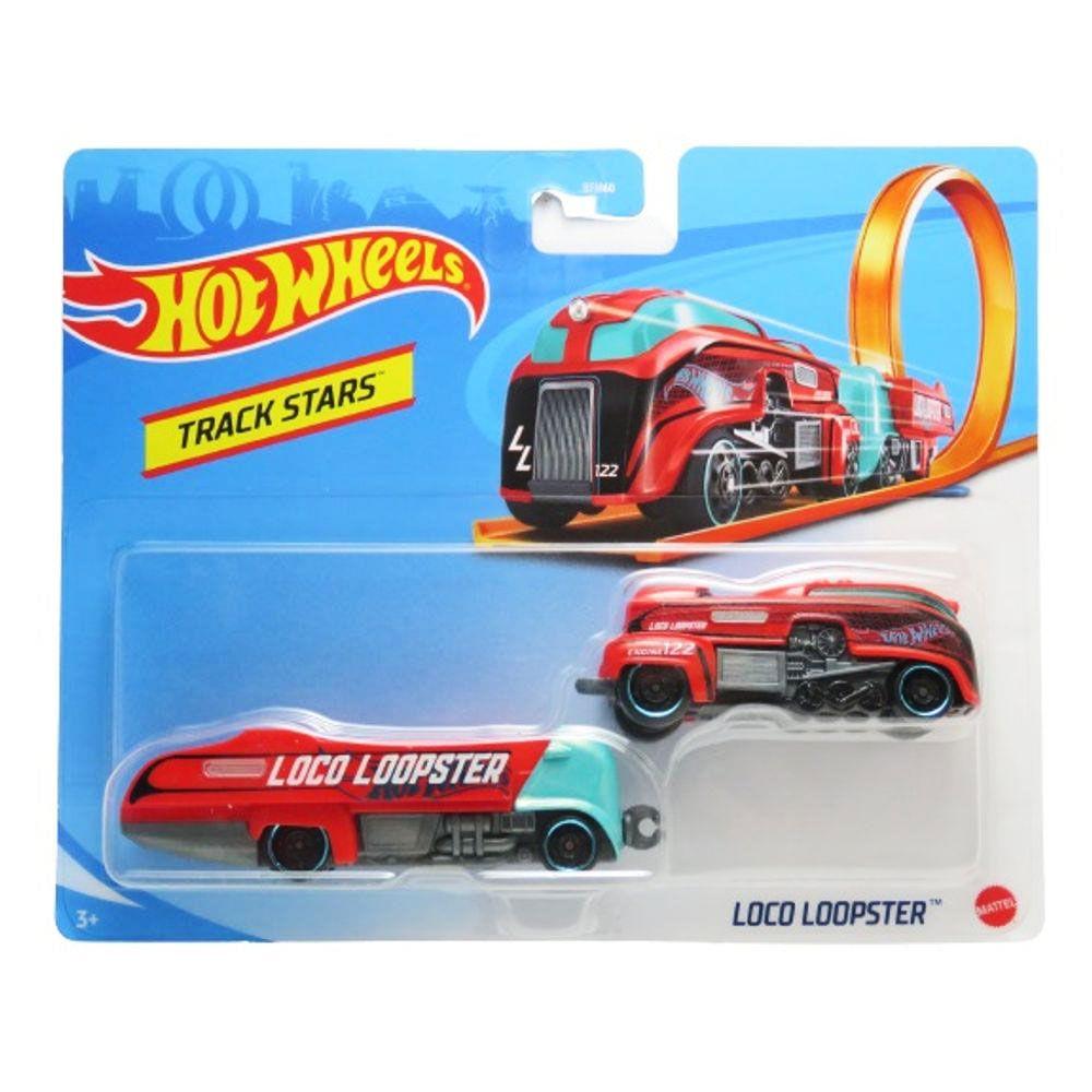 Carrinho Hot Wheels - Track Stars - Loco Loopster - 2 Carrinhos - Mattel