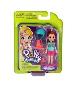 Mini-Boneca-com-Acessorios---Polly-Pocket---Lila-com-Patins---Mattel_Frente