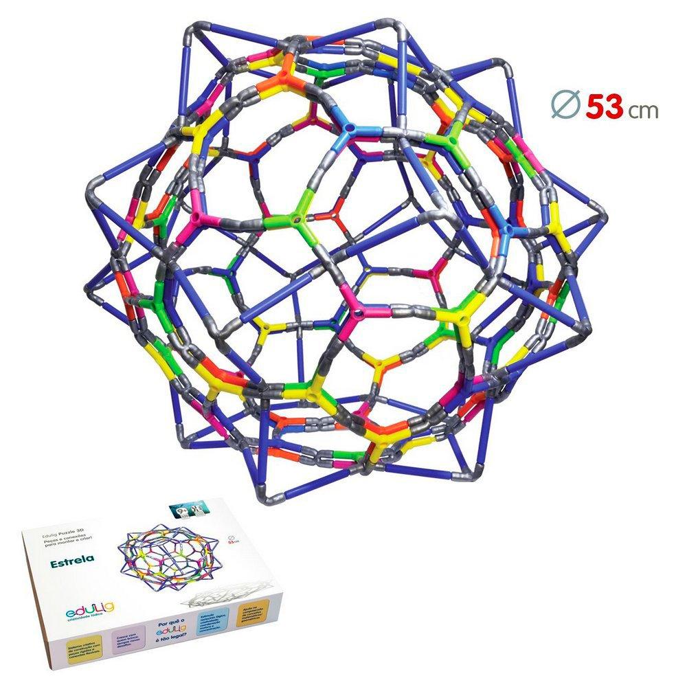 Quebra-cabeça Edulig Puzzle 3D Estrela - 320 peças - GLQH6EFUD - Edulig