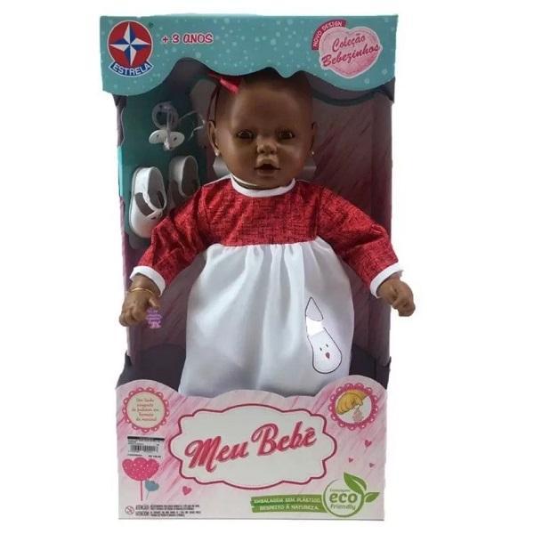 Meu Bebe Negro Veste Vermelho 60CM Estrela 0060