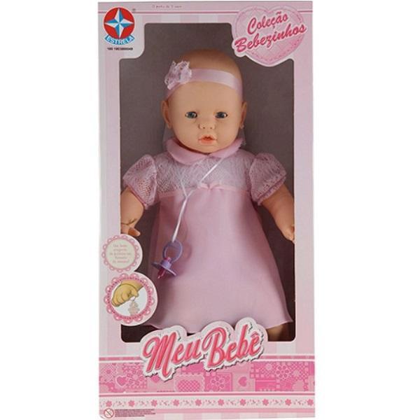 Meu Bebe Coleçao Bebezinhos Rosa Estrela 0057