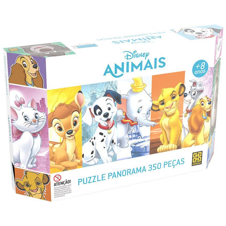 Quebra-Cabeca---Puzzle-Panorama---Animais-Disney---350-Pecas---Grow-0