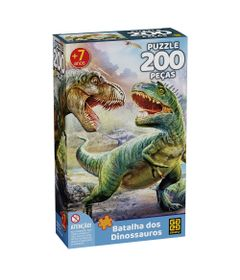 Quebra-Cabeca---Puzzle---Batalhas-dos-Dinossauros---200-Pecas---Grow-0