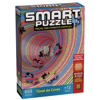 Quebra-Cabeca---Smart-Puzzle---Tunel-de-Cores---655-Pecas---Grow-0