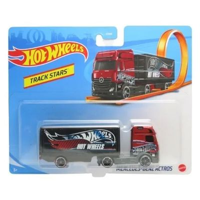 Carrinho-Hot-Wheels---Track-Stars---Mercedes-Benz-Actros---Bau-Preto---Mattel_Frente