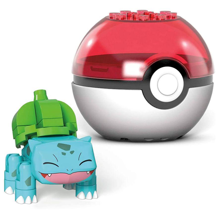 Blocos-de-Montar---Mega-Construx---Pokemon---Pokebola-com-Bulbasaur-Sorrindo---Mattel_Frente