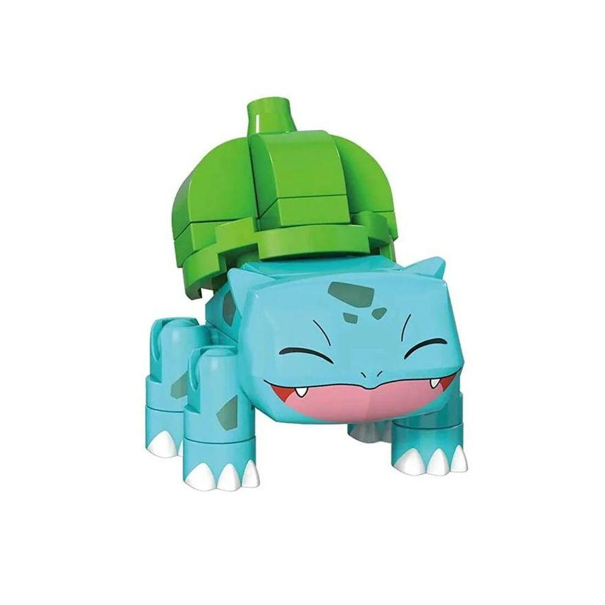 Blocos-de-Montar---Mega-Construx---Pokemon---Pokebola-com-Bulbasaur-Sorrindo---Mattel_Detalhe