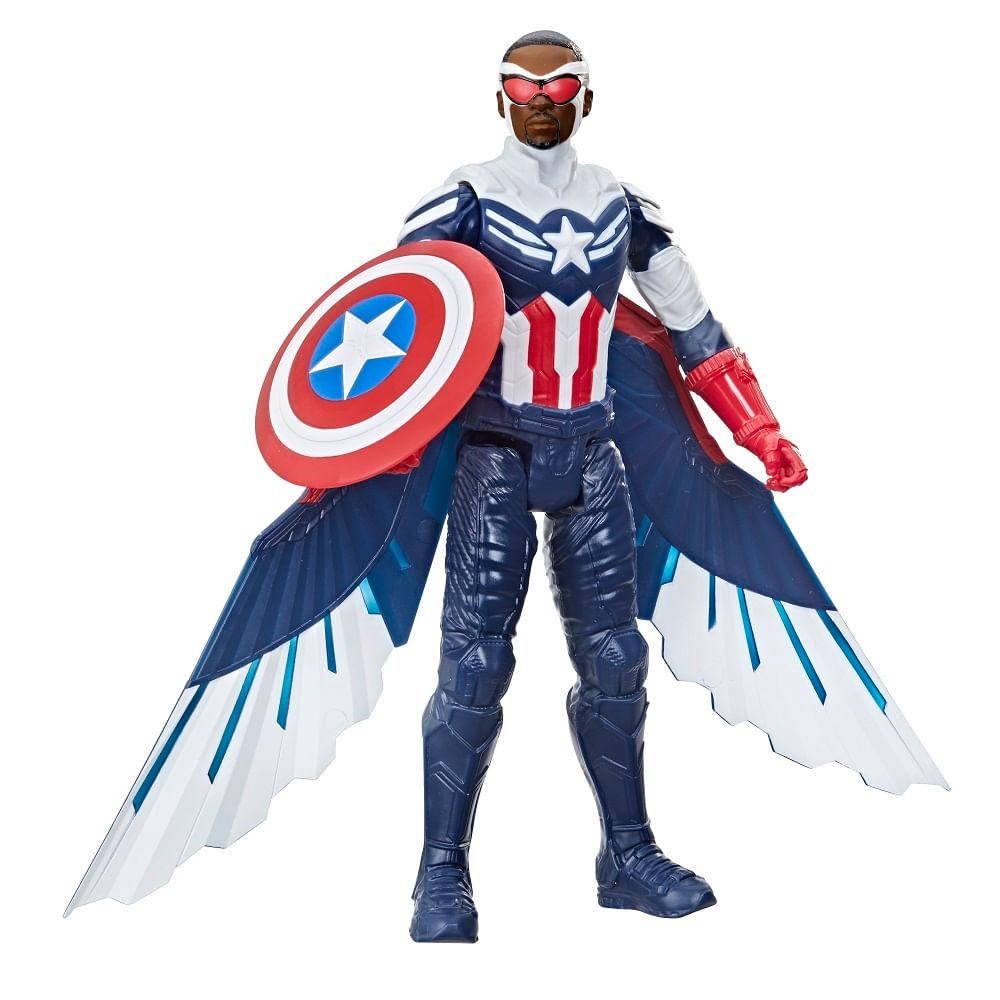 PRÉ-VENDA: Marvel Studios Avengers Titan Hero, Figura de de 30 cm - Capitão América com Asas - F2075 - Hasbro
