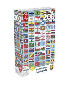 Quebra-Cabeca---200-Pecas---Bandeiras-do-Mundo---Grow-0