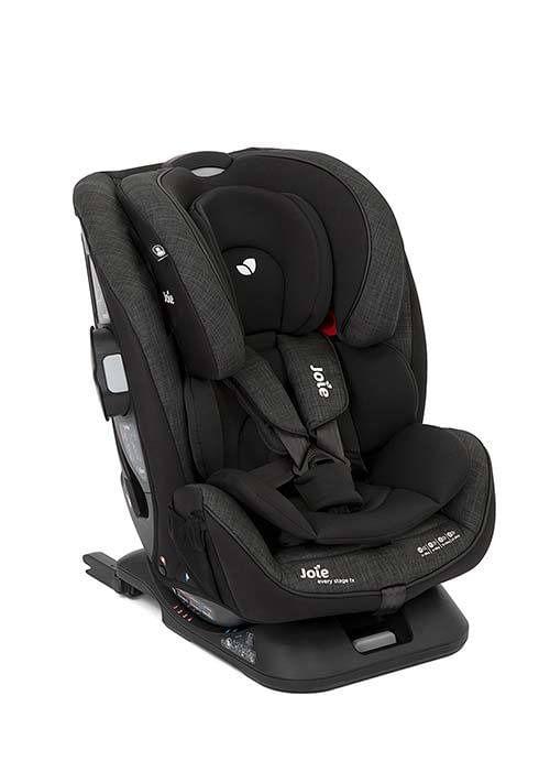 Cadeirinha de carro para bebê com isofix Every stage até 36 kg Preta mescla - Joie