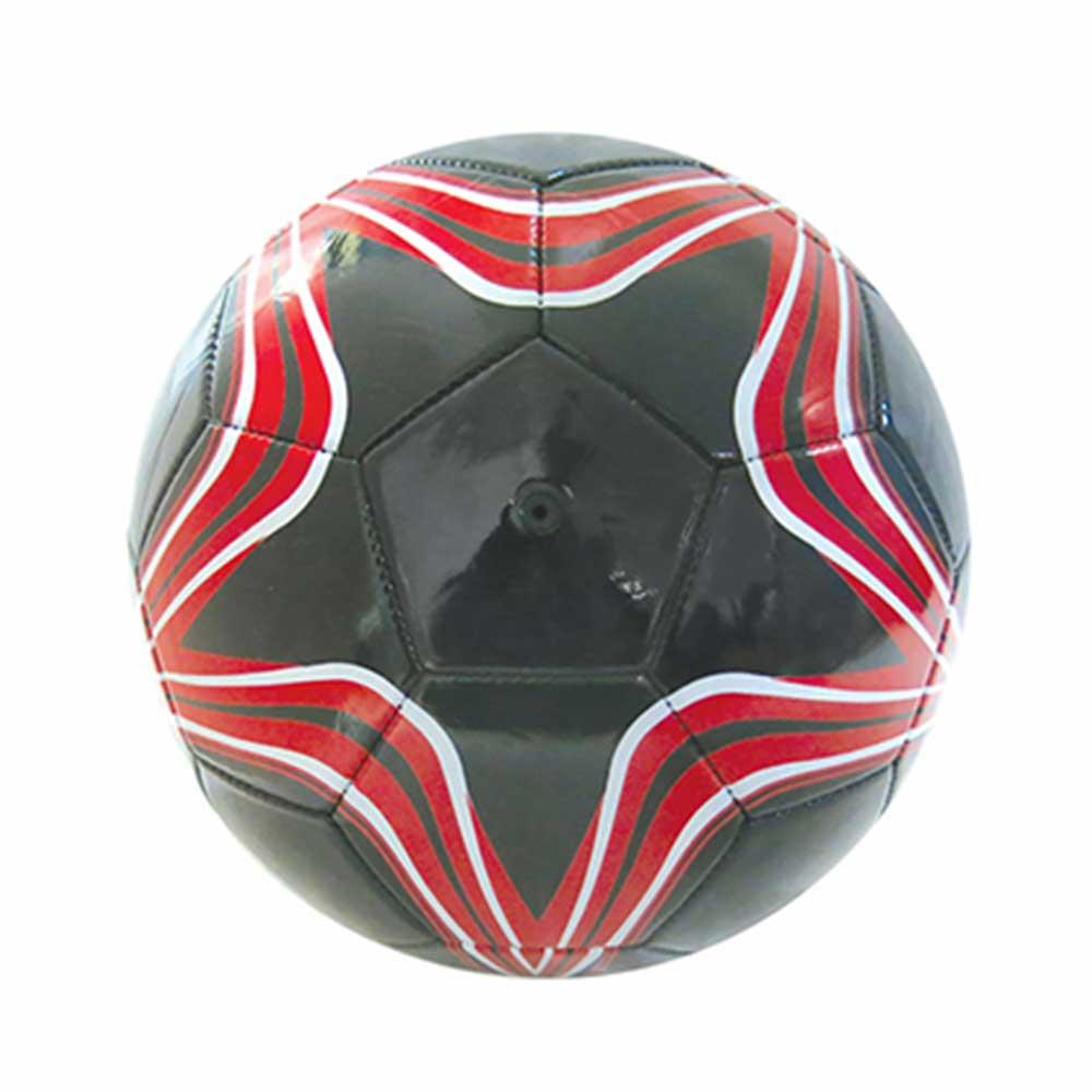 Bola de Futebol - Tamanho Oficial - Estrela - Preta e Vermelha - Pais e Filhos