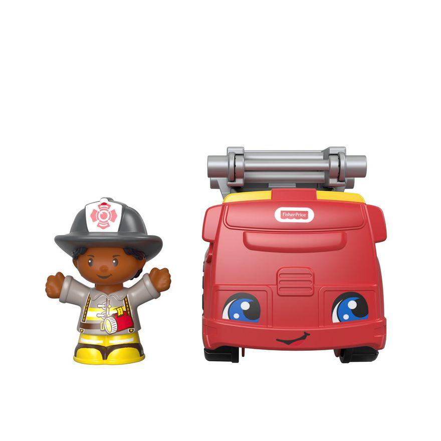 Mini-Figura-e-Veiculo---Little-People---Caminhao-de-Bombeiros---Fisher-Price---Mattel-1
