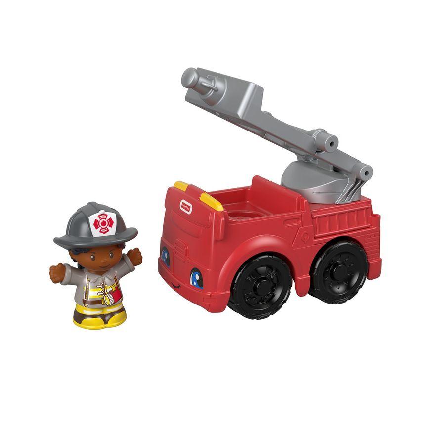 Mini-Figura-e-Veiculo---Little-People---Caminhao-de-Bombeiros---Fisher-Price---Mattel-2