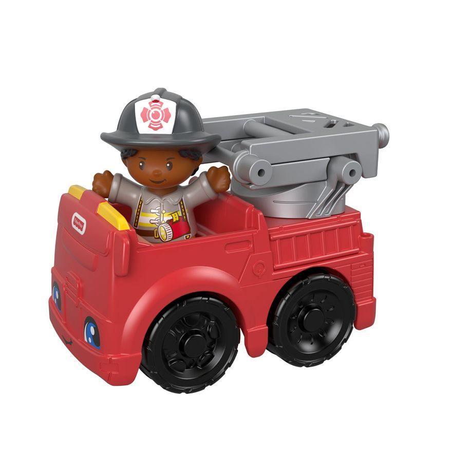 Mini-Figura-e-Veiculo---Little-People---Caminhao-de-Bombeiros---Fisher-Price---Mattel-3