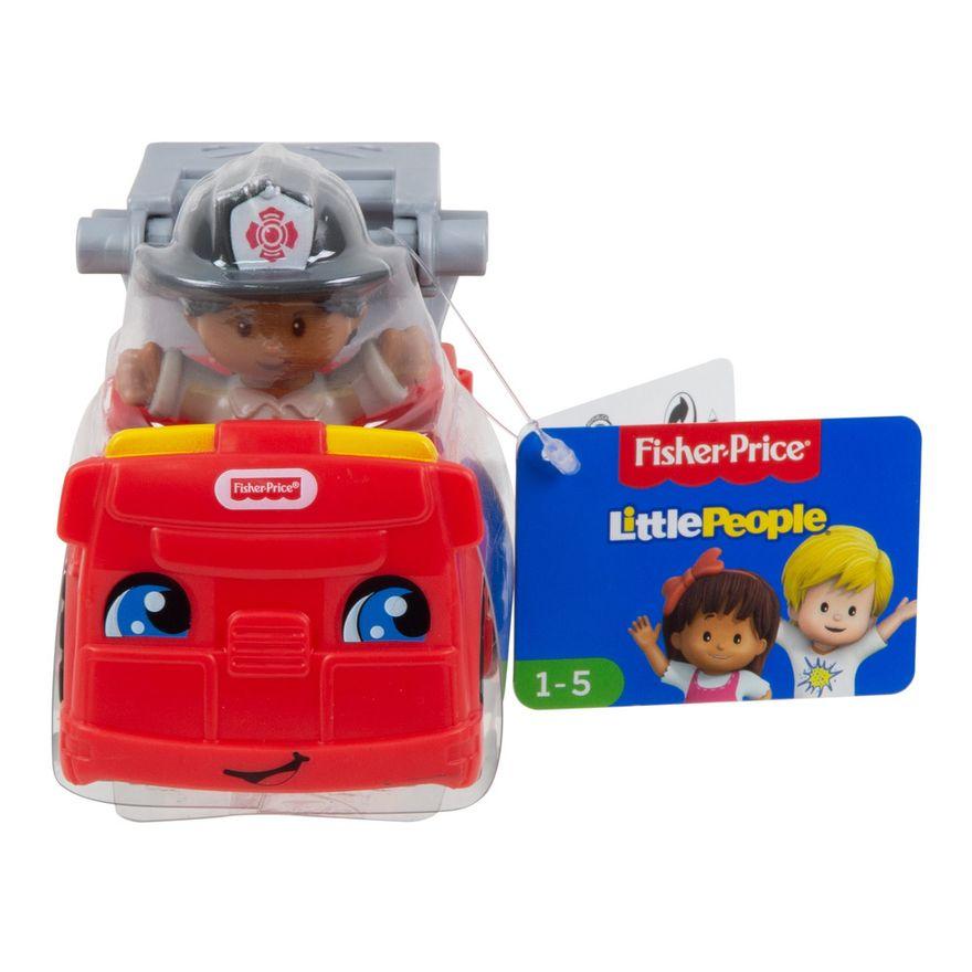 Mini-Figura-e-Veiculo---Little-People---Caminhao-de-Bombeiros---Fisher-Price---Mattel-4