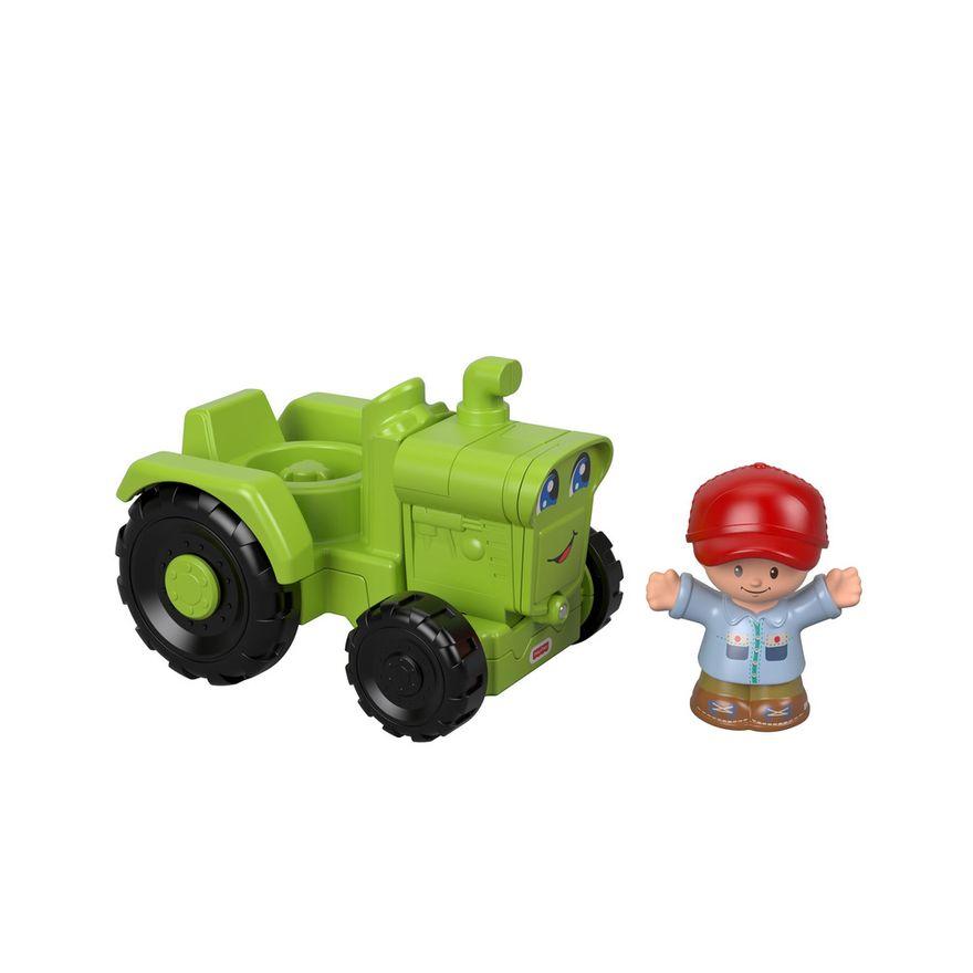 Mini-Figura-e-Veiculo---Little-People---Trator---Fisher-Price---Mattel-1