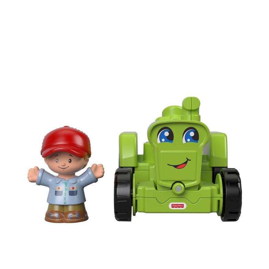 Mini-Figura-e-Veiculo---Little-People---Trator---Fisher-Price---Mattel-2