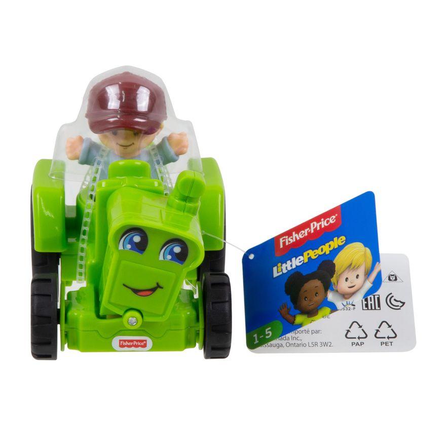 Mini-Figura-e-Veiculo---Little-People---Trator---Fisher-Price---Mattel-4