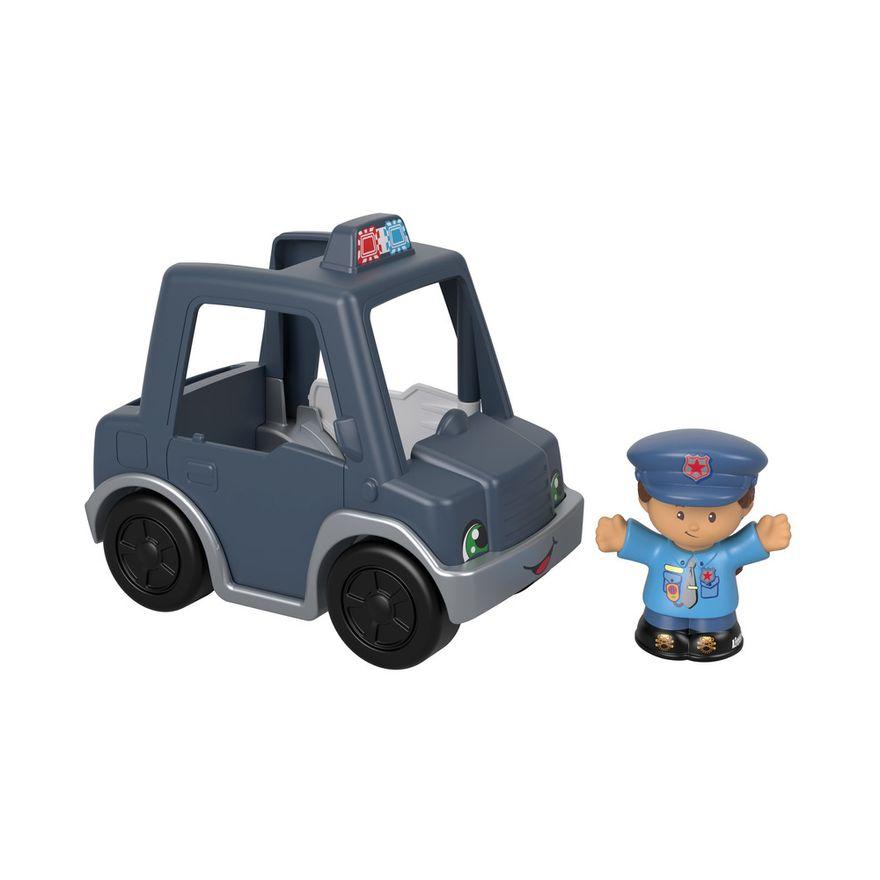 Mini-Figura-e-Veiculo---Little-People---Carro-de-Policia---Fisher-Price---Mattel-1