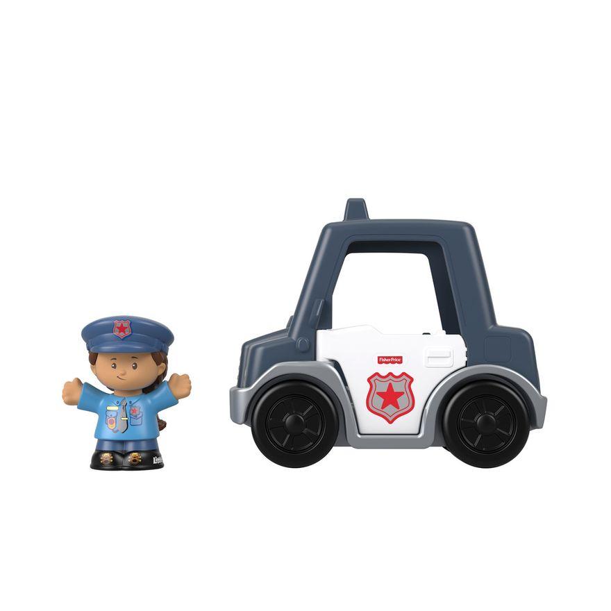 Mini-Figura-e-Veiculo---Little-People---Carro-de-Policia---Fisher-Price---Mattel-2