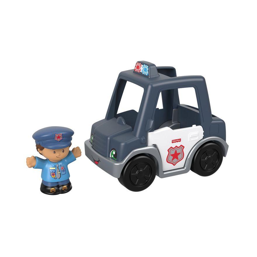 Mini-Figura-e-Veiculo---Little-People---Carro-de-Policia---Fisher-Price---Mattel-3