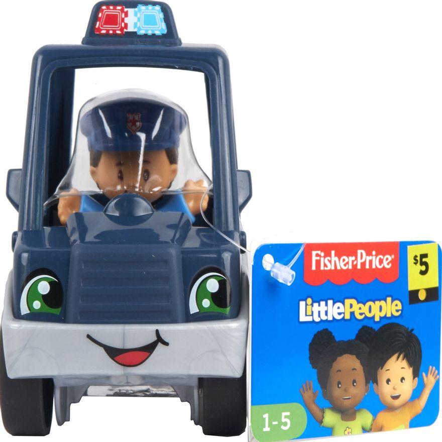 Mini-Figura-e-Veiculo---Little-People---Carro-de-Policia---Fisher-Price---Mattel-4