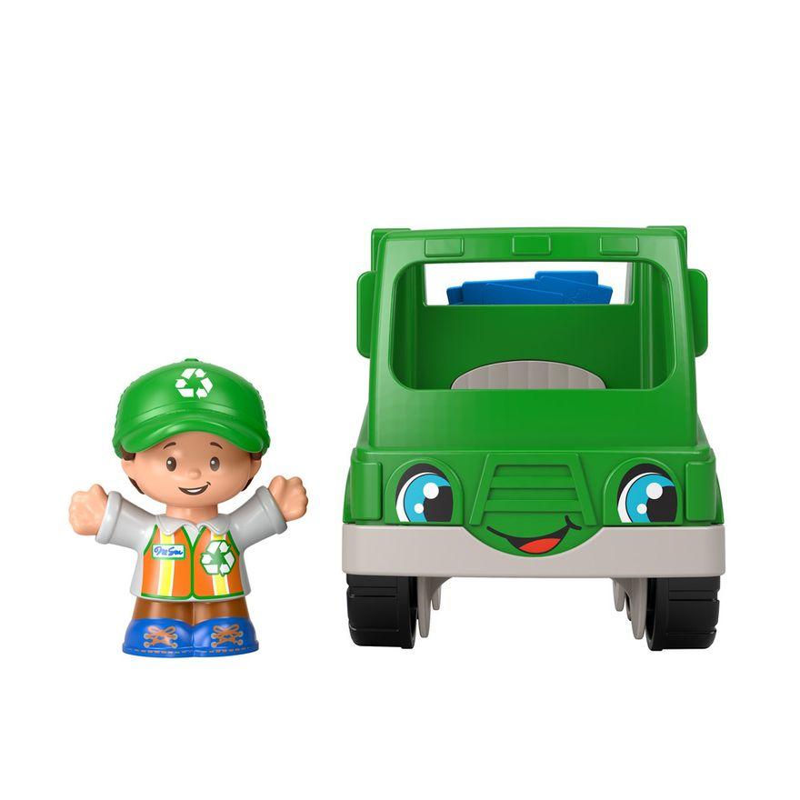 Mini-Figura-e-Veiculo---Little-People---Caminhao-de-Reciclagem---Fisher-Price---Mattel-0