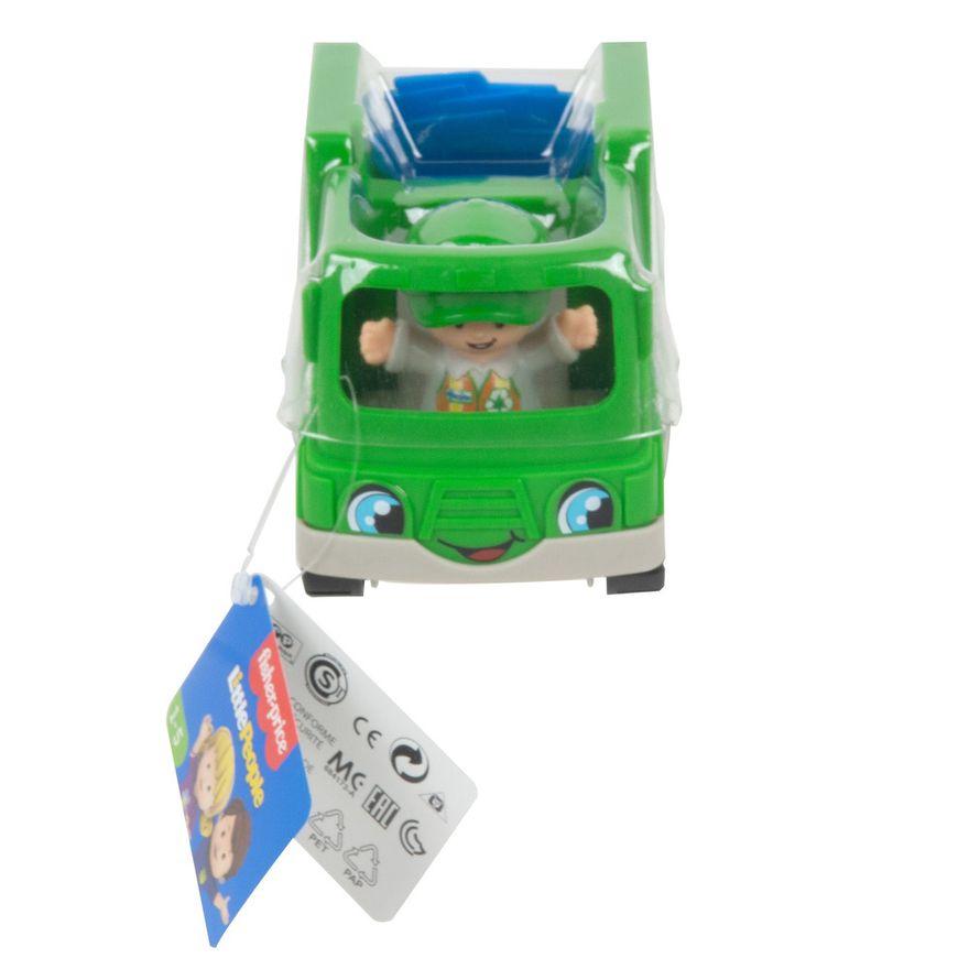 Mini-Figura-e-Veiculo---Little-People---Caminhao-de-Reciclagem---Fisher-Price---Mattel-1