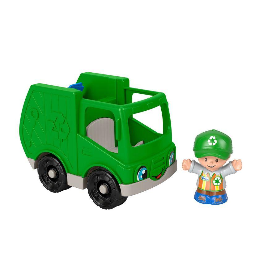 Mini-Figura-e-Veiculo---Little-People---Caminhao-de-Reciclagem---Fisher-Price---Mattel-2