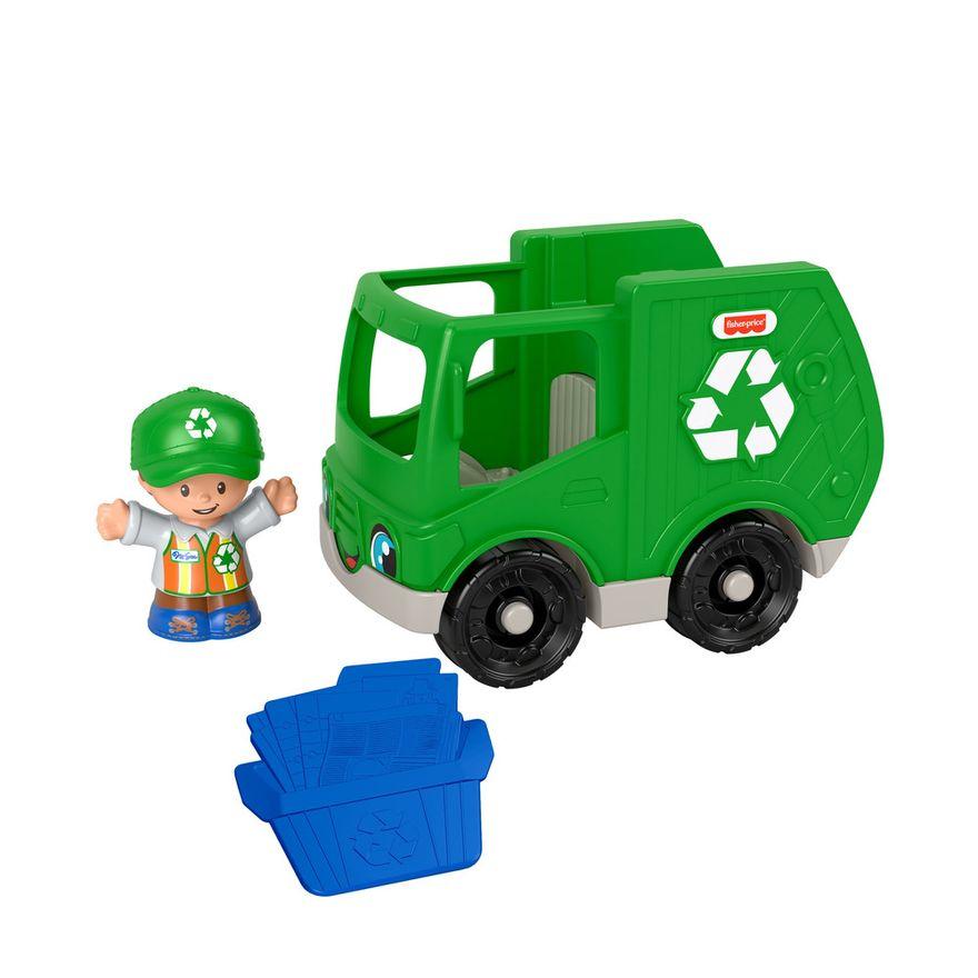 Mini-Figura-e-Veiculo---Little-People---Caminhao-de-Reciclagem---Fisher-Price---Mattel-3