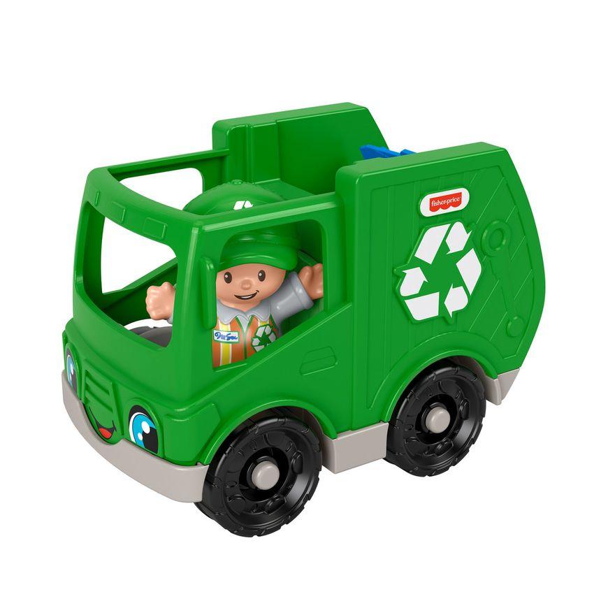 Mini-Figura-e-Veiculo---Little-People---Caminhao-de-Reciclagem---Fisher-Price---Mattel-4