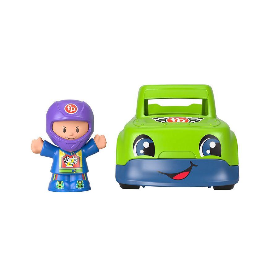 Mini-Figura-e-Veiculo---Little-People---Carro-de-Corrida---Fisher-Price---Mattel-1