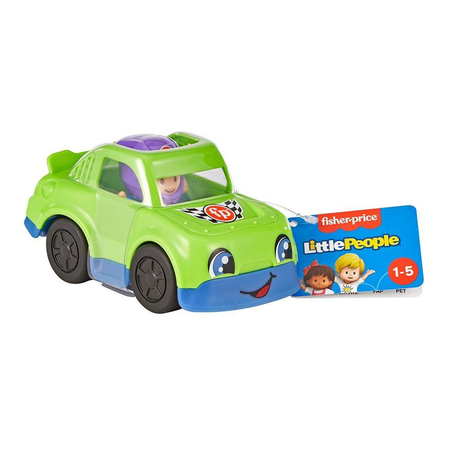 Mini-Figura-e-Veiculo---Little-People---Carro-de-Corrida---Fisher-Price---Mattel-2
