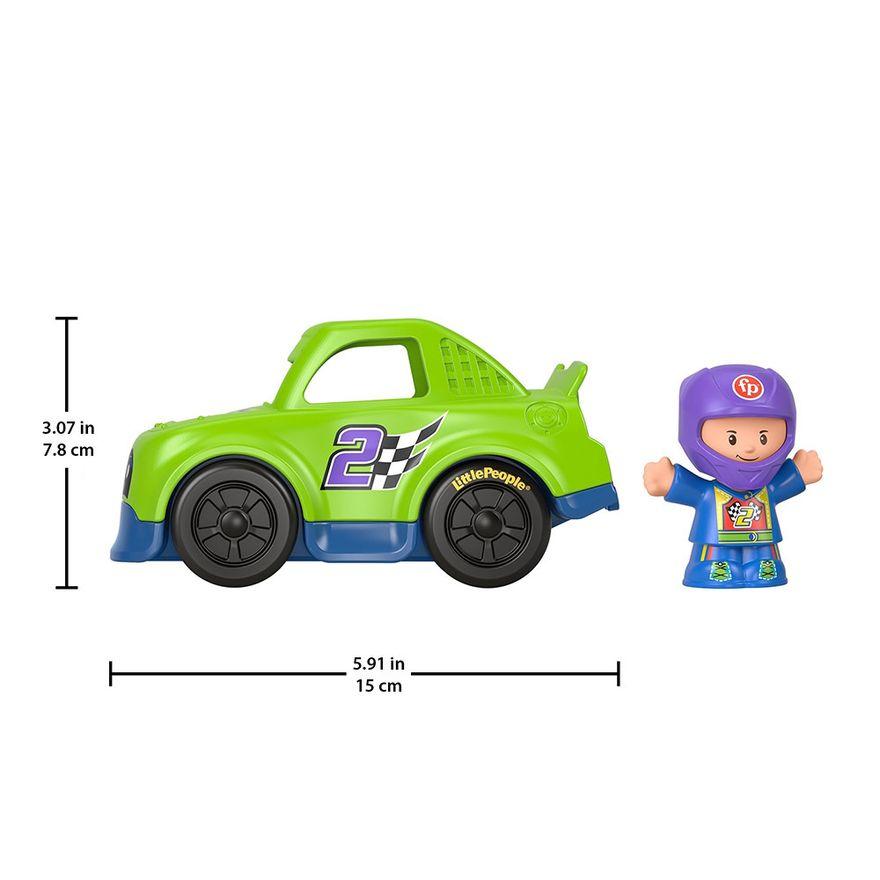 Mini-Figura-e-Veiculo---Little-People---Carro-de-Corrida---Fisher-Price---Mattel-4