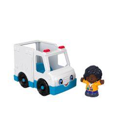 Mini-Figura-e-Veiculo---Little-People---Ambulancia---Fisher-Price---Mattel-0