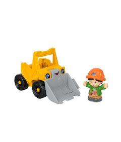 Mini-Figura-e-Veiculo---Little-People---Escavadora---Fisher-Price---Mattel-0
