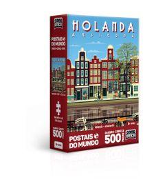Quebra-Cabeca---500-Pecas-Nano---Postais-do-Mundo---Holanda---Amsterda---Toyster-0