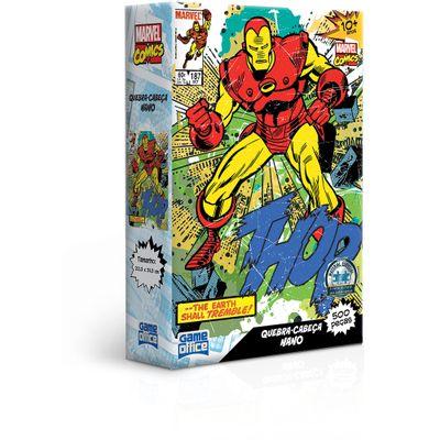 Quebra-Cabeca---500-Pecas-Nano---Game-Office---Marvel---Homem-de-Ferro---Toyster-0