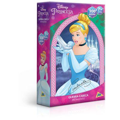 Quebra-Cabeca---Metalizado---200-Pecas---Disney---Princesa---Cinderela---Toyster--0