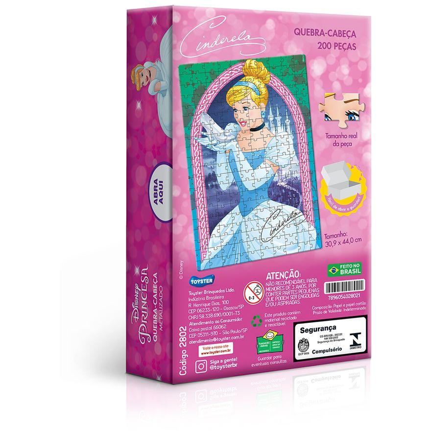 Quebra-Cabeca---Metalizado---200-Pecas---Disney---Princesa---Cinderela---Toyster--1