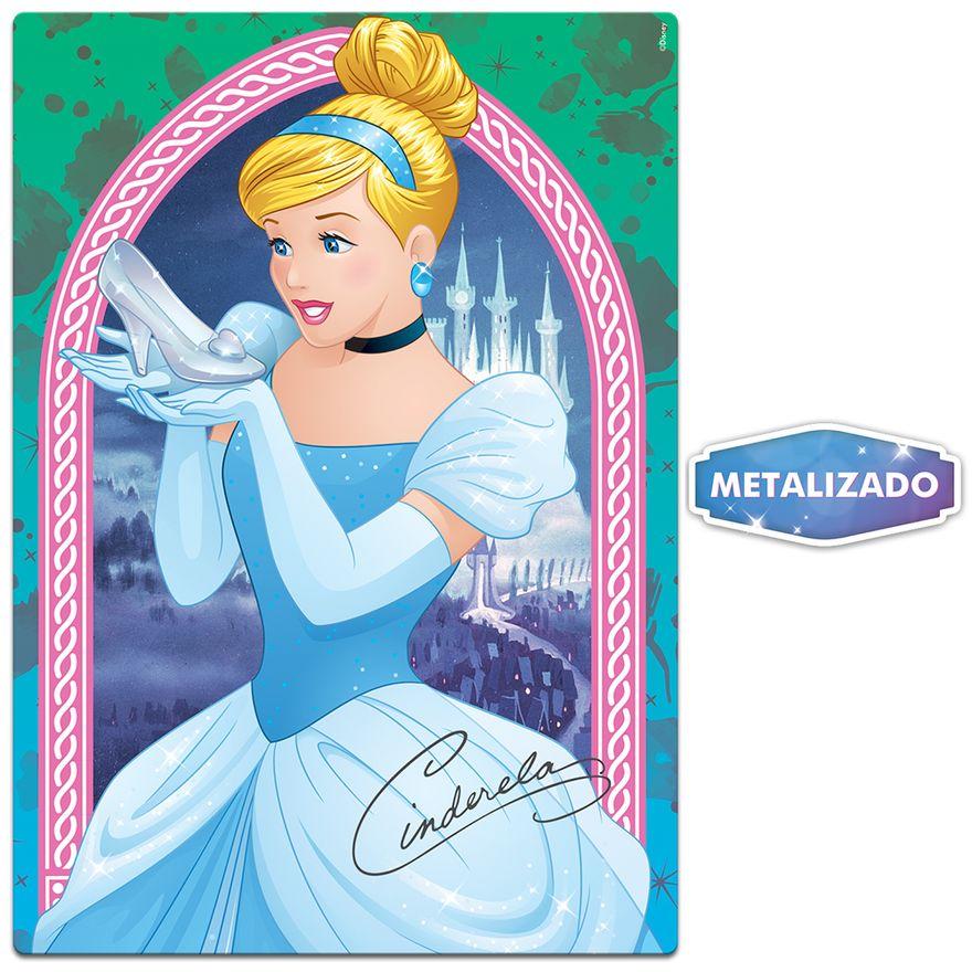 Quebra-Cabeca---Metalizado---200-Pecas---Disney---Princesa---Cinderela---Toyster--2
