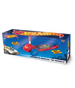 Patinete-Hot-Wheels---3-Rodas---Vermelho-e-Azul---Fun-0