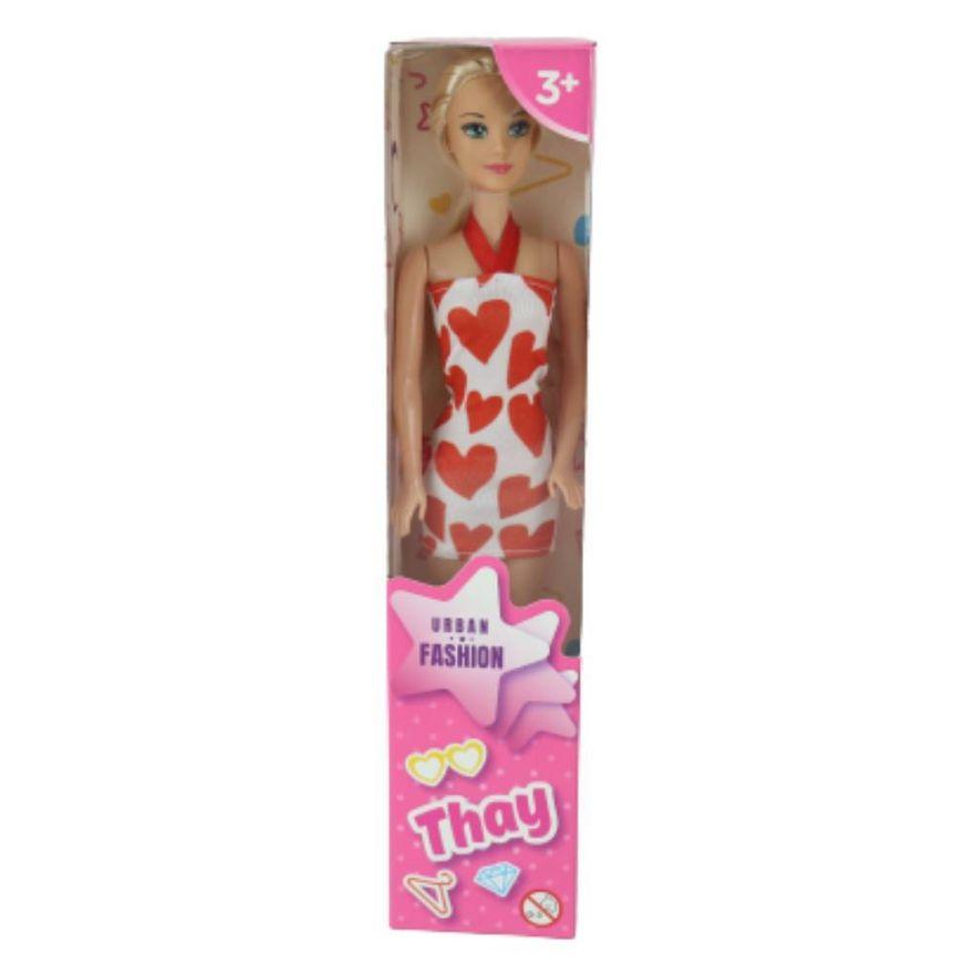 Boneca-Thay-Loira---Vestido-Branco-de-Coracao-Vermelho---Sandalia-Prata---Tip-Top-Toyz-1