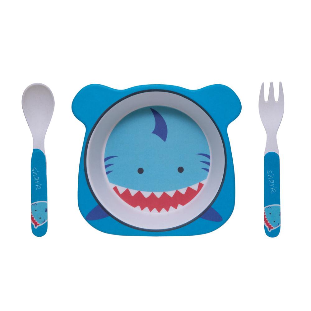 Conjunto De Alimentação - Tubarão Eco - 3 Unidades - Girotondo